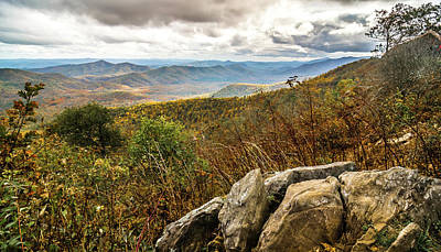 Food And Flowers Still Life Rights Managed Images - Graveyard fields overlook in the smoky mountains in north caroli Royalty-Free Image by Alex Grichenko