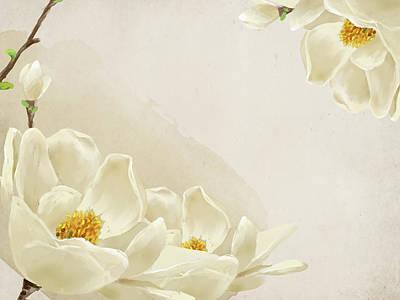 Peaceful Flower Art Print by Eastnine Inc.