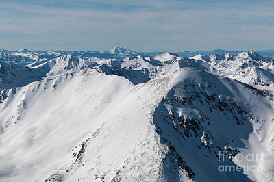 Photograph - Summit Of Mount Elbert Colorado In Winter by Steve Krull