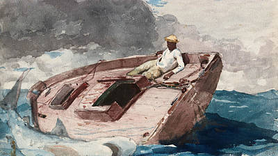 Drawing - The Gulf Stream by Winslow Homer