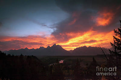 Photograph - 1501 Snake River Overlook Sunset by Steve Sturgill