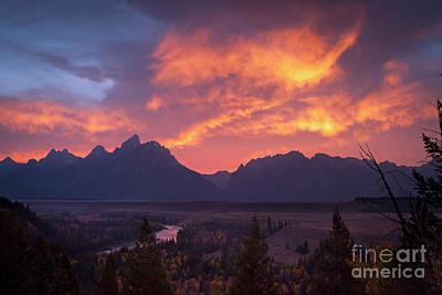 Photograph - 1502 Grand Teton Sunset by Steve Sturgill
