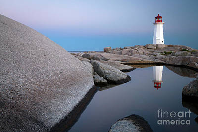 Photograph - 1511 Peggy's Cove Reflection by Steve Sturgill