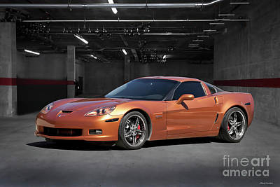 Sports Royalty-Free and Rights-Managed Images - 2007 Chevrolet Corvette Z06 C6R by Dave Koontz