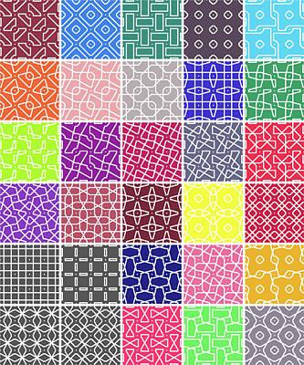 16 Connect 2 Grid Art Print