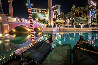 Photograph - Las Vegas Nevada Evening City Lights And Street Views  by Alex Grichenko