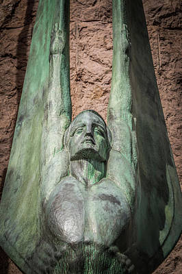Photograph - scenes around Hoover dam and  Mike O'Callaghan - Pat Tillman Mem by Alex Grichenko