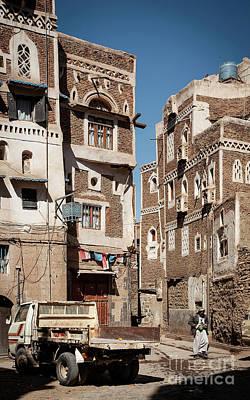 Door Locks And Handles - Street Scene And Buildings In Old Town Of Sanaa Yemen by JM Travel Photography