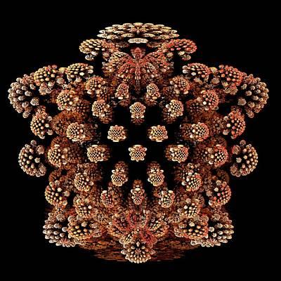 Mandelbulb Fractal Art Print by Laguna Design