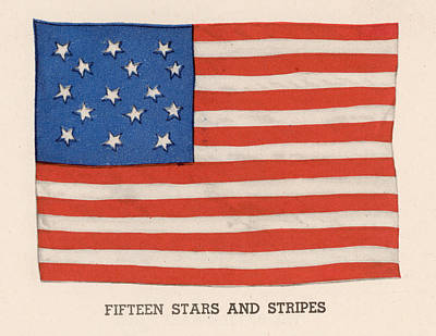 1794 American Flag Art Print by Kean Collection
