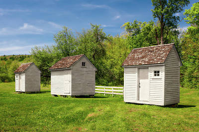 Photograph - 1800s New England Storage Buildings  -  1800snewenglandsheds184604 by Frank J Benz