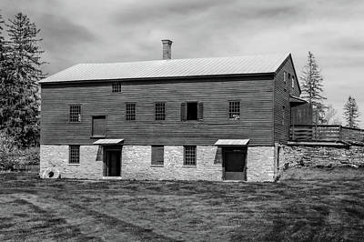 Photograph - 1835 Two Story Woodworking And Blacksmith Shop  -  1835woodandblacksmithshopblkwhi184684 by Frank J Benz