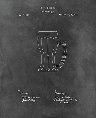 Drawing - 1872 Beer Mug by Dan Sproul