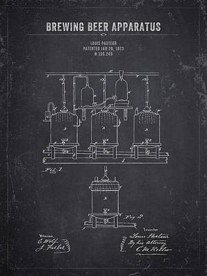 Beer Royalty-Free and Rights-Managed Images - 1873 Brewing Beer Apparatus - Dark Charcoal Grunge by Aged Pixel