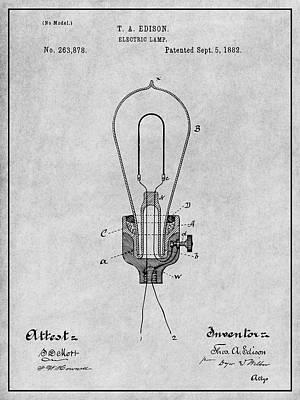 Edison Light Bulb Drawings | Fine Art America
