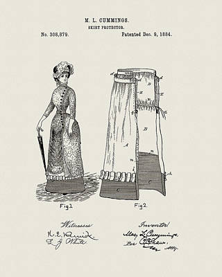 Drawing - 1884 Skirt Protector by Dan Sproul