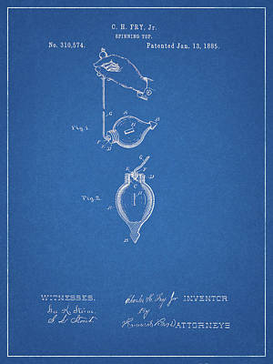 Drawing - 1885 Toy Top Patent by Dan Sproul