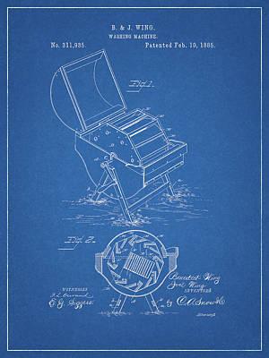 Drawing - 1885 Washing Maching Patent by Dan Sproul