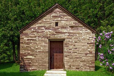 Photograph - 1890 Stone Jailhouse  -  1890stonejailhouse185669 by Frank J Benz
