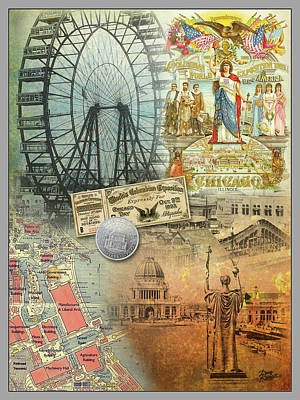 Politicians Digital Art - 1893 Chicago Worlds Fair and Columbian Exhibition by Doug Kreuger