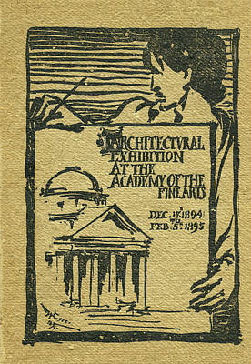 Mixed Media - 1894-95 Catalogue Of The Architectural Exhibition At The Pennsylvania Academy Of The Fine Arts by Wilson Eyre Jr