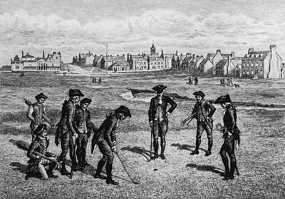 18th Century Golfers Art Print by Hulton Archive