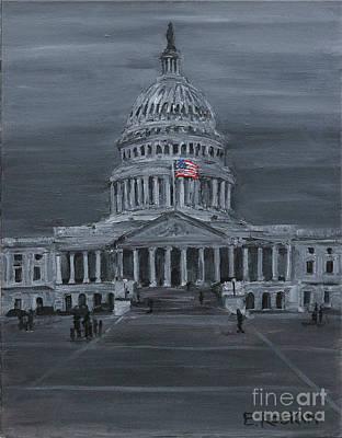 Painting - Darkness at Noon by Elizabeth Roskam