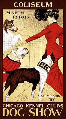 Photograph - 1902 Chicago Dog Show Poster by Graphicaartis