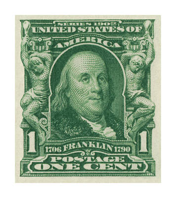 Royalty-Free and Rights-Managed Images - 1902 Franklin Stamp by Greg Joens