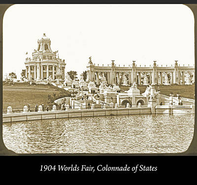 Photograph - 1904 Worlds Fair, Colonnade Of States by A Gurmankin