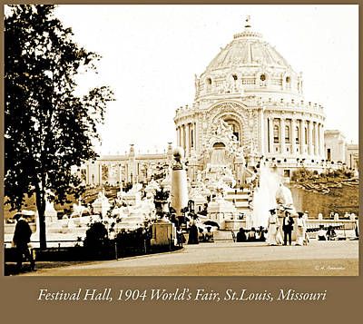 Photograph - 1904 Worlds Fair, Festival Hall From The Promenade by A Gurmankin