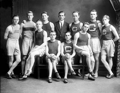 Sports Paintings - 1910 Georgetown University Track Team by Celestial Images