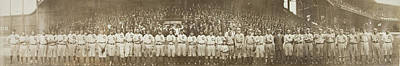 Sports Paintings - 1911 Addie Joss Benefit Game Panoramic Photograph by Celestial Images