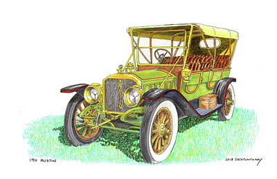 Painting - 1911 Austin by Jack Pumphrey