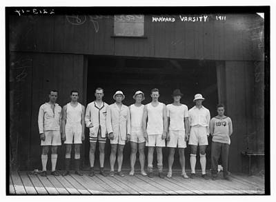 Firefighter Patents Royalty Free Images - 1911 Harvard Varsity Crew Royalty-Free Image by Celestial Images