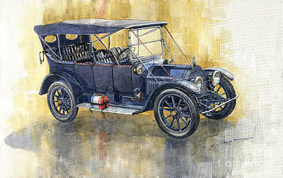 Painting - 1913 Cadillac Four 30 Touring by Yuriy Shevchuk
