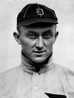 Photograph - 1913 Portrait Photo Of Detroit Tigers Player Ty Cobb by Doc Braham