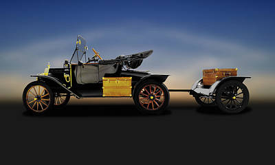 Photograph - 1914 Model T Ford Runabout Convertible  -  1914fordmodeltconvertible149300 by Frank J Benz