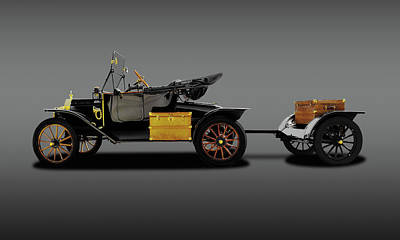 Photograph - 1914 Model T Ford Runabout Convertible  -  1914modeltfordconvertiblefine149300 by Frank J Benz
