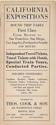 Firefighter Patents - 1915 Thos. Cook  Son Railroad Train Trips to West Coast Expeditions by Celestial Images