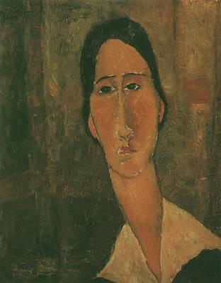 Pop Art - 1919 Modigliani Amedeo Jeanne HBbterne avec un col blanc by Modigliani Amedeo