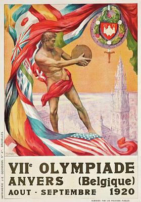 Painting - 1920 Summer Olympics Vintage Poster by Walter van der Ven