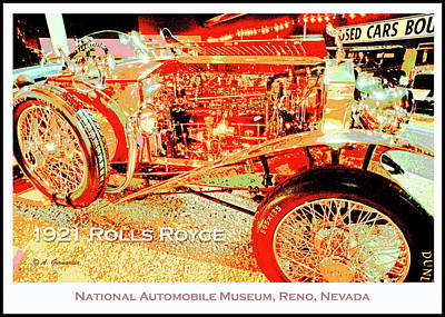 Digital Art - 1921 Rolls Royce Classic Automobile by A Gurmankin