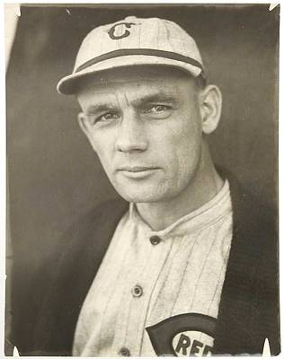 Sports Paintings - 1921 Rube Marquard Cincinnati Reds, Sports by Celestial Images