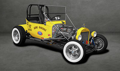 Photograph - 1923 Ford T-bucket Roadster  -  1923fordroadstertbucketdblgray196330 by Frank J Benz