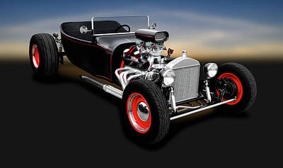 Photograph - 1923 Ford T-bucket Roadster  -  1923fordtbucketroadster196320 by Frank J Benz