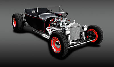 Photograph - 1923 Ford T-bucket Roadster  -  1923fordtbucketroadstergrayfa196320 by Frank J Benz