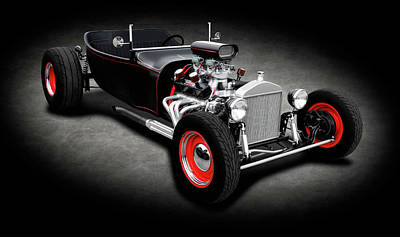 Photograph - 1923 Ford T-bucket Roadster  -  1923fordtbucketroadstersptext196320 by Frank J Benz