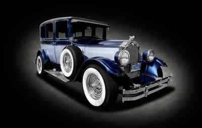 Photograph - 1927 Buick 4 Door Sedan  -  1927buickfourdoorsedantexture142077 by Frank J Benz