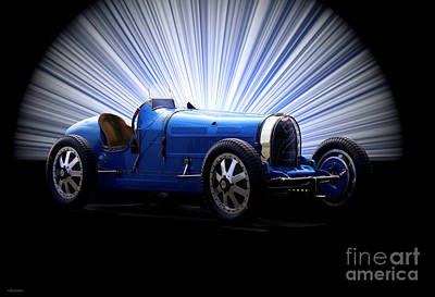 1920s Flapper Girl - 1928 Bugatti Type 35B Gran Prix Race III by Dave Koontz
